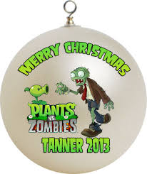personalized plants vs zombies x mas ornament custom gift