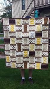 modern retro quilt in sepia colorway 45x52