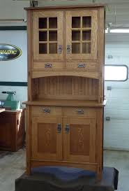 small mission style buffet and hutch finewoodworking