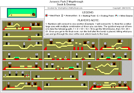 Jurassic Park Map Jurassic Park 2 The Chaos Continues Seek Destroy Map Gif