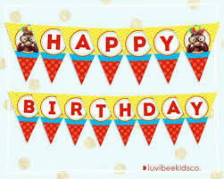 curious george happy birthday banner printable banner