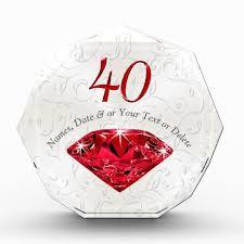 40 year anniversary gift customizable ruby 40 year anniversary gift ideas zazzle