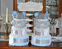 Diaper Cake Centerpieces by Boys Diaper Cakes Etsy