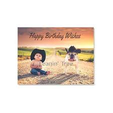 leanin u0027 tree best year by a country mile birthday card 20497