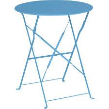 Table Et Chaises De Jardin Leroy Merlin by Table De Jardin Naterial Flore Ronde Bleu 2 Personnes Leroy Merlin