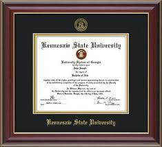diploma frame kennesaw state diploma frames with custom ksu detailing