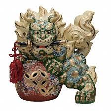 kutani shishi japanese leo shishi lion dog kutani porcelain tsurugi sword