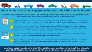 Pago De Impuesto Vehicular En Linea | recomendaciones para el pago del impuesto de vehículos de bogotá