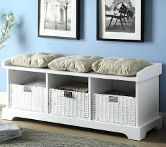 Small Storage Bench With Baskets Hallway Storage Bench 3 Seat Hall Storage Bench With Baskets