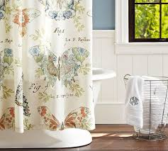Pottery Barn Curtains Shower Curtains With Barns Pottery Barn Butterfly Fabric Shower