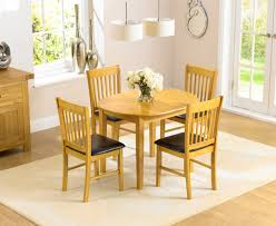 Oval Oak Dining Table Amalfi 107cm Oak Extending Dining Table And Chairs The Great