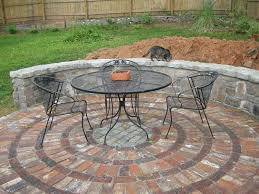 modern style round patio with circular patio paver kits home depot