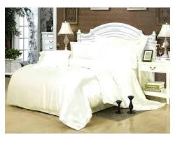 Silk Duvet Cover Queen Cream White Silk Bedding Set Satin California King Size Queen Full