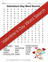 free printable valentine u0027s day word search
