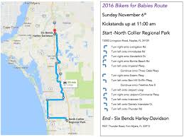 Fort Myers Florida Map by Bikers For Babies Annual Fundraising Ride Celebration And James