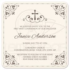confirmation invitation and brown holy communion or confirmation invitation