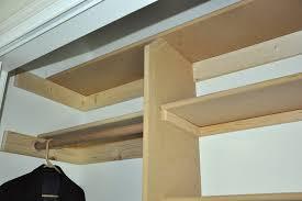 building shelves in closet