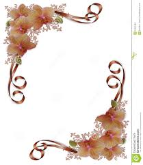 orchids floral wedding border stock images image 10253464