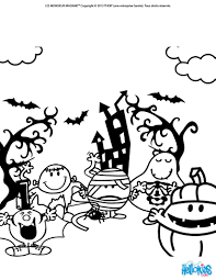 halloween zombies and monsters coloring pages hellokids com