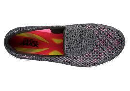 womens skechers go walk 4 slip on black pink