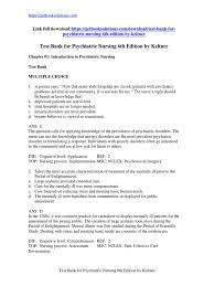 download test bank for psychiatric nursing 6th edition by keltner