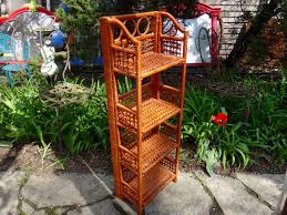 rattan shelf etagere wicker shelf woven rattan powder room