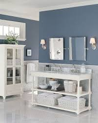 Bathroom Paint Type Slate Blue Walls Provide The Color In This Master Bath I Like The