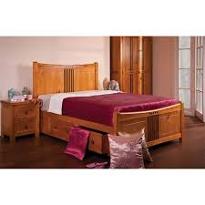 Pine Drawers Sweet Dreams Curlew Wooden Bed Frame With Storage Drawers Solid