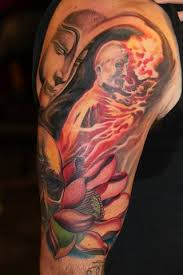 a minds eye tattoo tattoos tony adamson burning monk