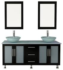Frosted Glass Bathroom Cabinet by 59