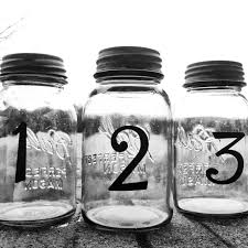 wedding table number centerpieces mason jar centerpieces mason jar
