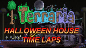 terraria 1 2 halloween house time lapse youtube