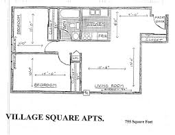 The Dakota Floor Plan Village Square Apartments In Brookings Sd Mills Property