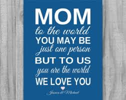 personalized christmas gift for aunt to us you are the world
