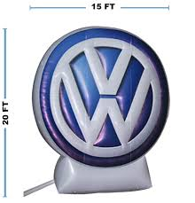 vw logos giant automotive inflatable products