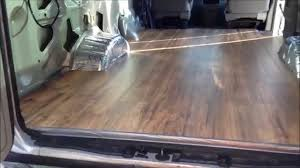 Laminated Timber Floor Van Build 4 Laminate Wood Flooring Install 18 Jan 2015 Youtube