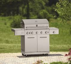 kenmore 5 burner stainless steel gas grill with ceramic searing