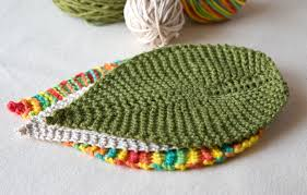 free knitting pattern leafy washcloth tricksy knitter by megan