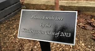 Personalized Park Bench Park Bench And Garden Plaques Bronze And Stainless Impact Signs