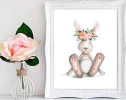 Easter Bunny Decorations Printable bunny print etsy
