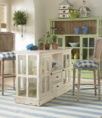 Farmhouse Kitchen Island Table Glass Front Upper Cabinets Exposed - Farmhouse kitchen table with drawers