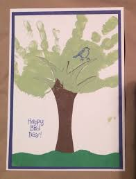 dad card ideas we made this tree handprint card for grandpa u0027s birthday the tree