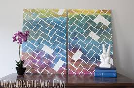 Cool Crafts To Make For Your Room - how to make a herringbone art piece easy and fun