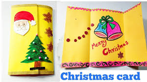 diy how to make easy and simple christmas greeting card kids