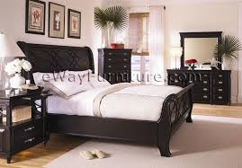 american federal black sleigh bed