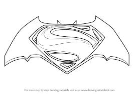 learn draw batman superman logo batman superman dawn
