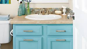 bathroom cabinet paint ideas painted aqua bathroom vanity featheryboa bath ideas juxtapost