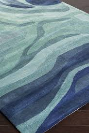 Area Rug Blue Soothing Wave Rugs Lifestyle Bliss And Lifestyle
