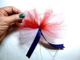 tulle hair bows bowdabra patriotic tulle hair bow bowdabra