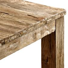 Unmilled Dining Table Natural Teak  Reclaimed Teak Raft - Reclaimed teak dining table and chairs